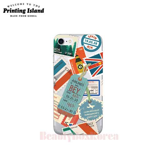 PRINTING ISLAND 3Items Travel Stamp Jelly Phone Case,PRINTING ISLAND,Beauty Box Korea