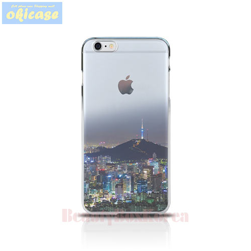 OKICASE Jelly Phone Case A Night in Seoul,Beauty Box Korea