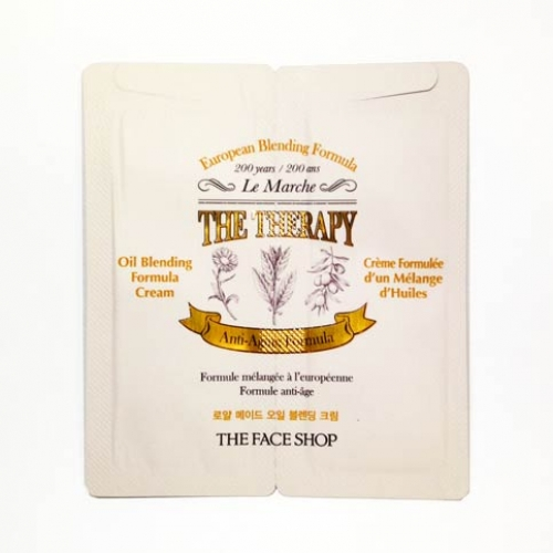 [mini] THE FACE SHOP The Therapy Royal Made Oil Blending Cream 2.2ml*10ea, THE FACE SHOP