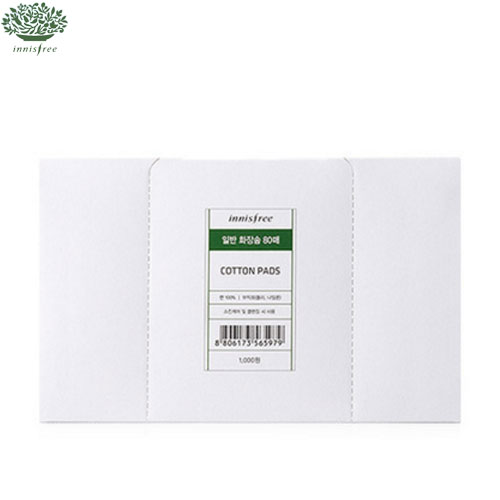 INNISFREE Cosmetic Cotton Pads 1.0 80ea, INNISFREE