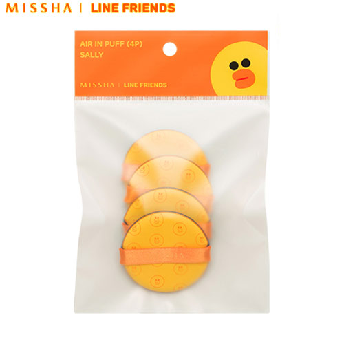 MISSHA Air in Puff 4pcs -Sally [Line Friends Limited Edition], MISSHA