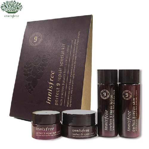 [mini] INNISFREE Perfect 9 Repair Special Kit 4 items (Skin,Lotion,Cream & Eye Cream), INNISFREE