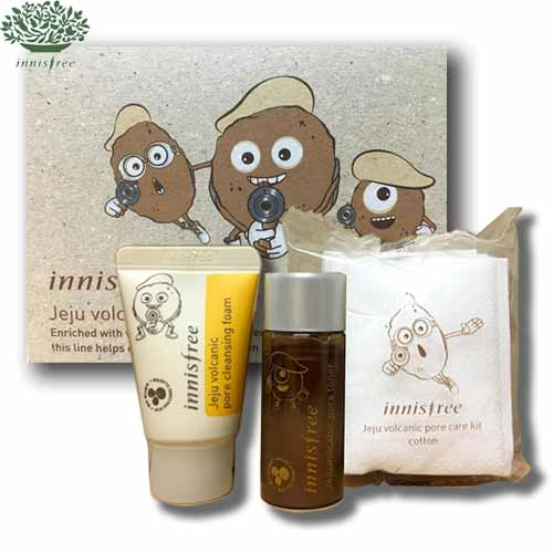Beauty box korea mini innisfree jeju volcanic pore care kit 3 mini innisfree jeju volcanic pore care kit 3 items sciox Choice Image