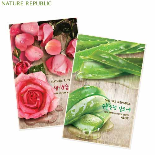 NATURE REPUBLIC Real Nature Mask Sheet 23ml*10ea, NATURE REPUBLIC