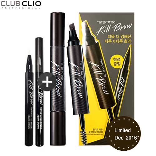 CLIO Tinted Tattoo Kill Brow XP 7.3g + Kill Brow Brush 6ml Special Set, CLIO