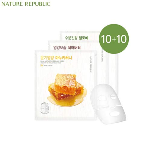 NATURE REPUBLIC Real Nature Hydro Gel Mask 22g*10ea, NATURE REPUBLIC