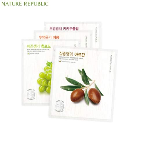 NATURE REPUBLIC Real Nature Hydro Gel Mask 22g, NATURE REPUBLIC