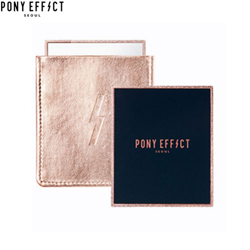 PONY EFFECT Compact Mirror(Gold Pocket) 1ea, PONY EFFECT