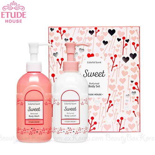 ETUDE HOUSE Colorful Scent Perfumed Body Set -Sweet 300ml*2ea, ETUDE HOUSE