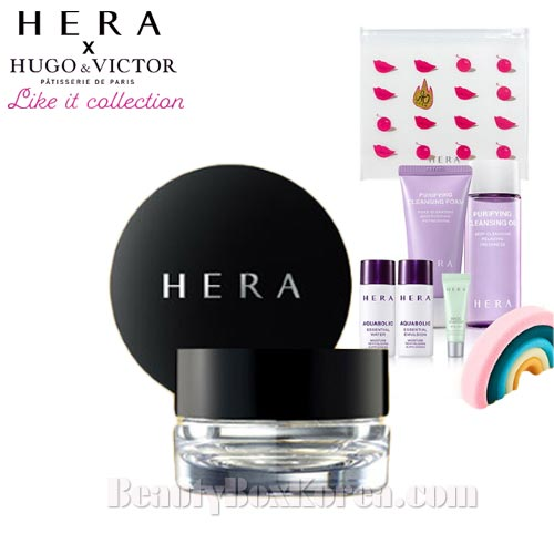 HERA Pearl Powder Eye Shadow Special Gift Set 7items [HERA Hugo & Victor Like It Collection]