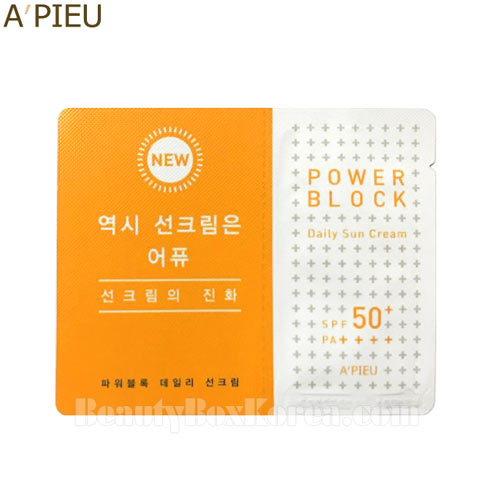 [mini] A'PIEU Power Block Daily Sun Cream 2ml*10ea,A'Pieu,Beauty Box Korea
