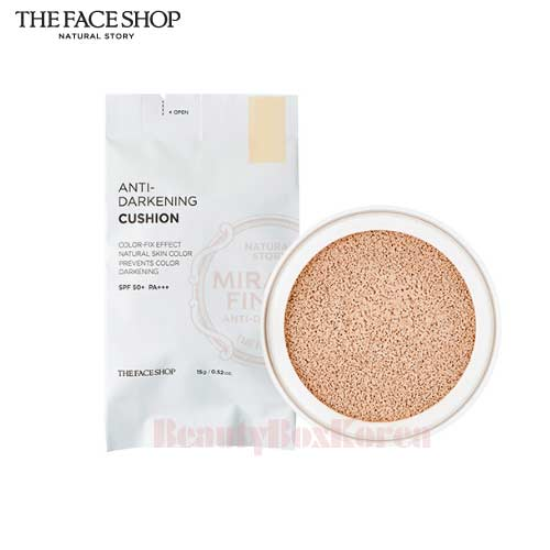 THE FACE SHOP Anti-Darkening Cushion Refill SPF50+ Pa+++ 15g ,THE FACE SHOP,Beauty Box Korea