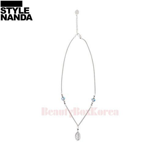 STYLE NANDA Engraved Pendant Necklace 1ea