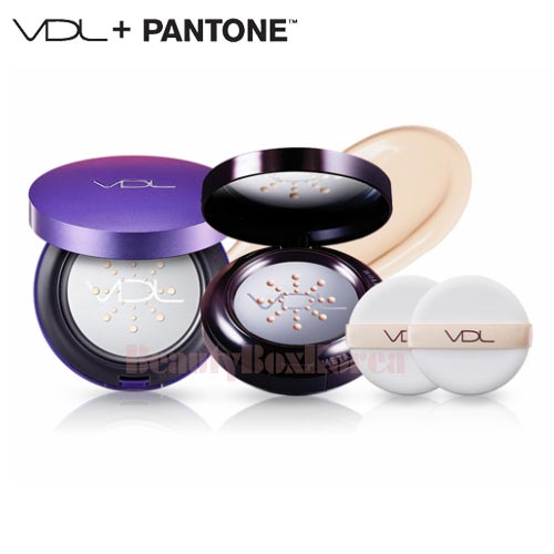 VDL Metal Cushion Foundation Pantone Case Set 15g*2ea [Pantone 18 Edition]
