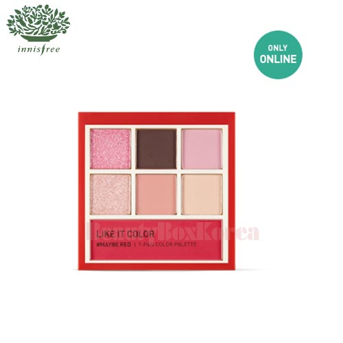 INNISFREE Like It Color #Maybe Red (7-Pan Color Palette) 8.5g [Online Excl.]