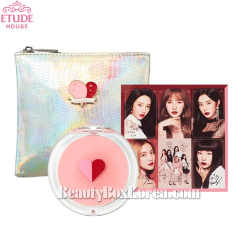 ETUDE HOUSE Red Velvet Mirror & Pouch Set,Beauty Box Korea