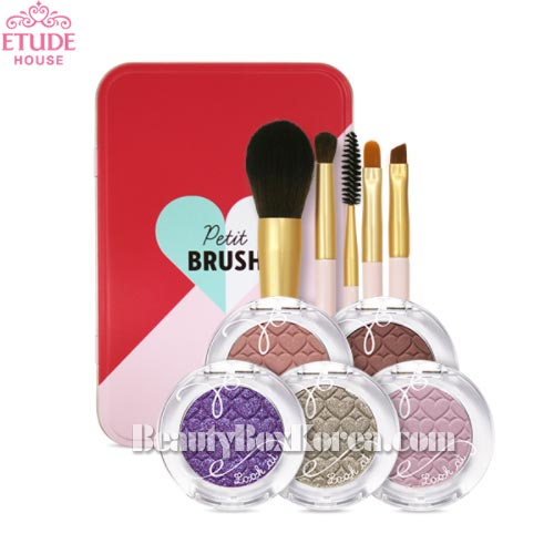 ETUDE HOUSE Look At My Eyes Gelato Shadow 5 Color & Mini Brush Set