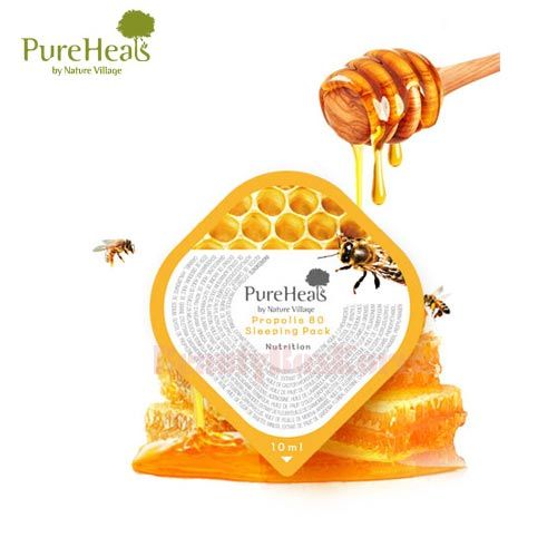 PUREHEALS Propolis 80 Sleeping Pack 10ml*10ea (Capsule Pack)