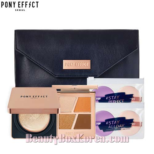 PONY EFFECT Coverstay Cushion Foundation with Special Pouch Set, PONY EFFECT