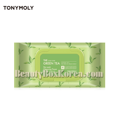 TONYMOLY The Chok Chok Green Tea No-Wash Cleansing Tissue 100ea