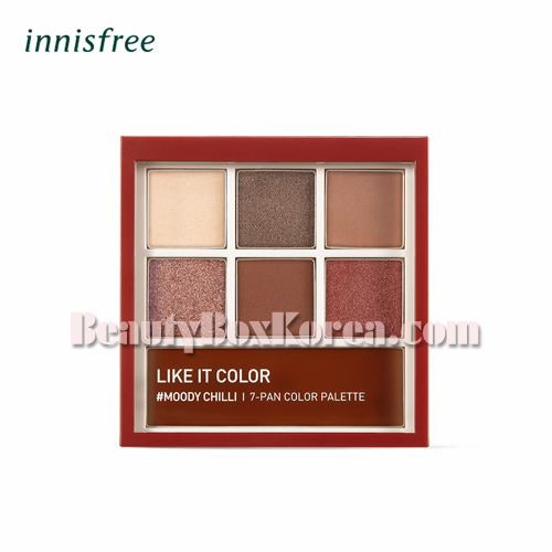 INNISFREE Like It Color Moody Chilli 7-pan Palette 7.9g[OCT 2018 Limited]