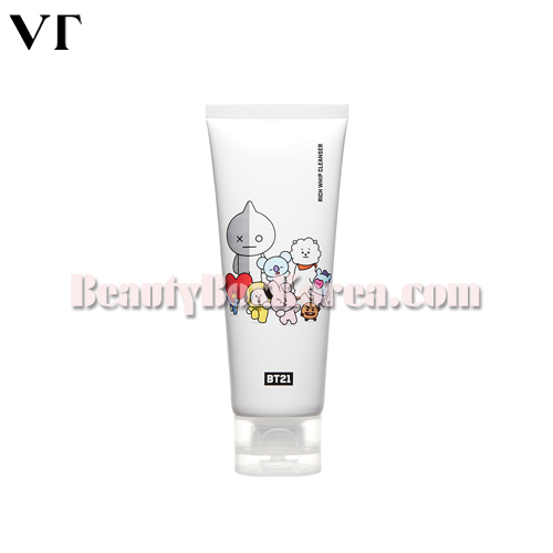 VT COSMETICS BT21 Rich Whip Cleanser 100ml[VTxBT21 Limited](PRE-ORDER)