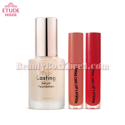 ETUDE HOUSE Double Lasting Serum Foundation Special Set 3items