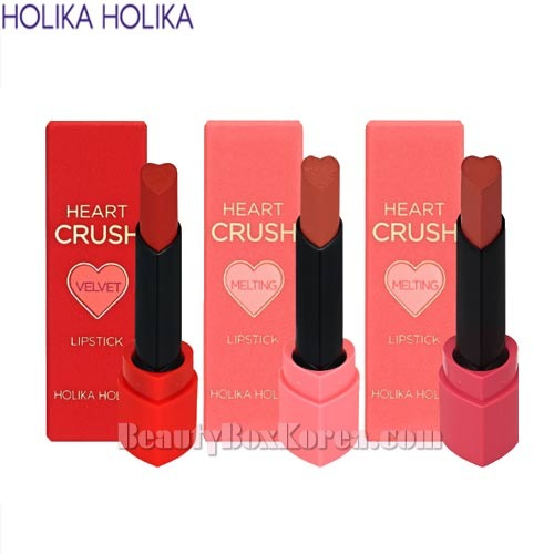 HOLIKA HOLIKA Heart Crush Lipstick 1.8g*3ea [Velvet/Melting/Power Matte],HOLIKAHOLIKA