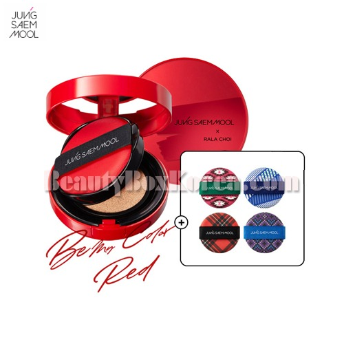 JUNGSAEMMOOL Skin Nuder Cushion 14g*2ea+Cushion Puff-Pattern for Season 4ea[Be My Color, Red Edition],Beauty Box Korea