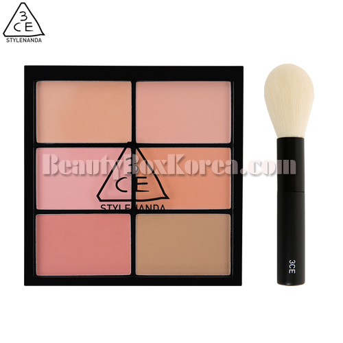 3CE Pro Multi Blush Color Palette #Softner Special Kit 2items