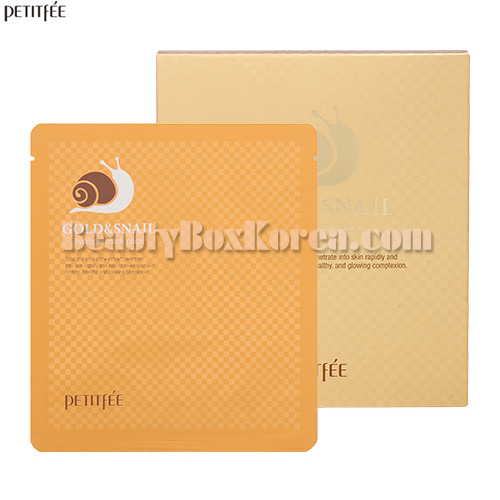 PETITFEE Gold&Snail Hydrogel Mask Pack 32g*5ea
