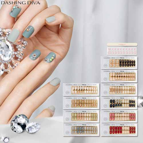 DASHING DIVA Super Slim Fit Nail 10set [SWAROVSKI Crystal Collection],DASHING DIVA