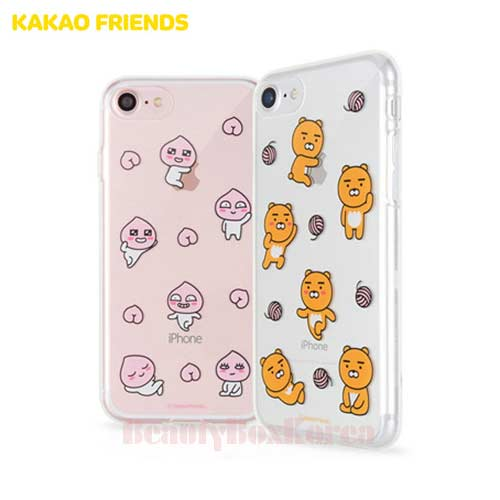 KAKAO FRIENDS 7Kinds Uv Shuffle Clear Jelly Phone Case