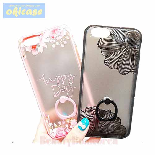 OKICASE 2 Items Flower Ring Phone Case,OKICASE,Beauty Box Korea