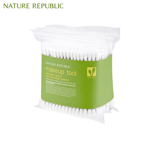 NATURE REPUBLIC Nature's Deco Cotton Swab 300p, NATURE REPUBLIC