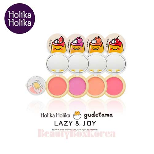 HOLIKA HOLIKA Lazy & Joy Jelly Dough Blusher (Gudetama Edition Ver.2) 6g, HOLIKAHOLIKA