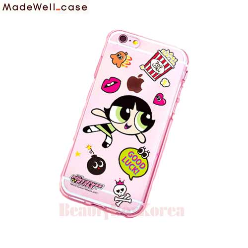 MADEWELL-CASE Power Puff Girls Clear Jelly Sticker Buttercup, MADEWELL-CASE