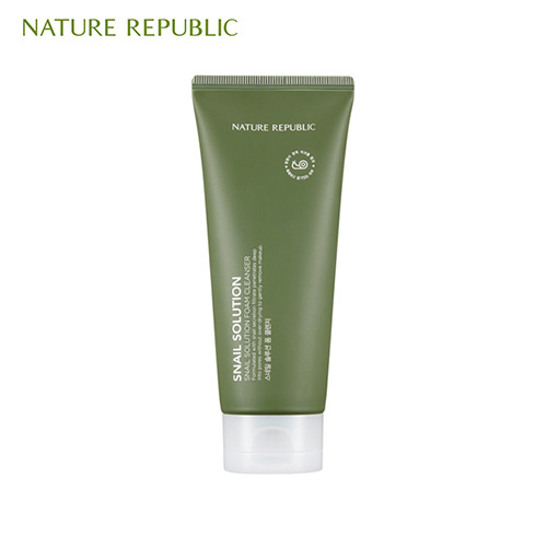 NATURE REPUBLIC Snail Solution Foam Cleanser 150ml, NATURE REPUBLIC