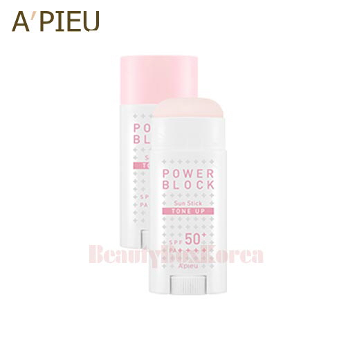 A'PIEU Power Block Tone Up Sun Stick (Pink) SPF50+PA++++ 15g