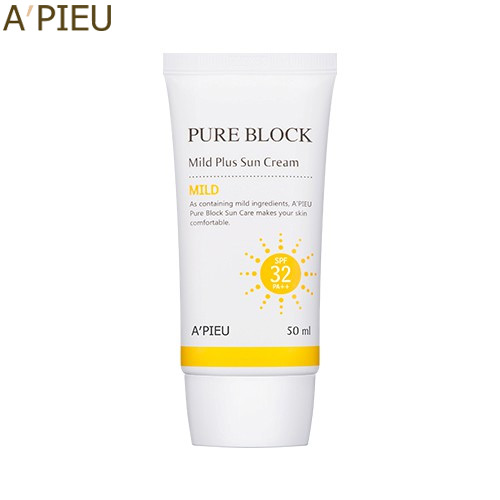 A'PIEU Pure Block Mild Plus Sun Cream SPF32/PA++ 50ml, A'Pieu