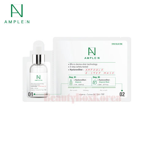 AMPLE:N Hyalron Shot 2 Step Mask 23ml