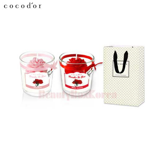COCOD'OR Carnation Jar Candle 2ea With Gift Bag