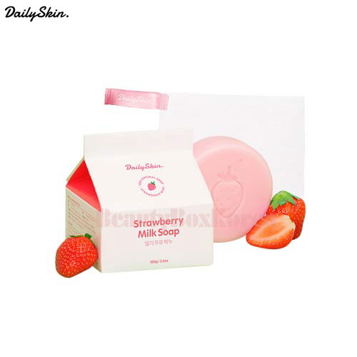 DAILY SKIN Strawberry Milk Soap 100g