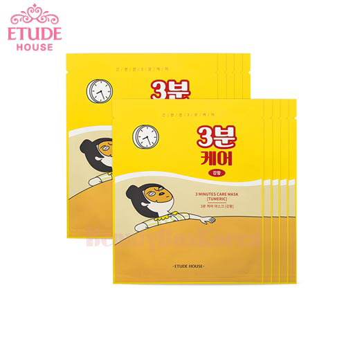 ETUDE HOUSE 3 minutes Care Mask 23g*10ea,Beauty Box Korea