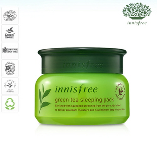 INNISFREE Green Tea Sleeping Pack 80ml, INNISFREE