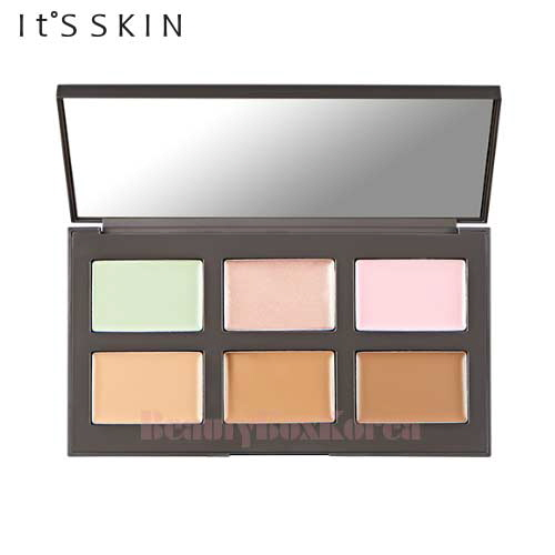 IT'S SKIN Life Color Palette Contouring 1.4g*3+1.6g*3,IT'S SKIN,Beauty Box Korea
