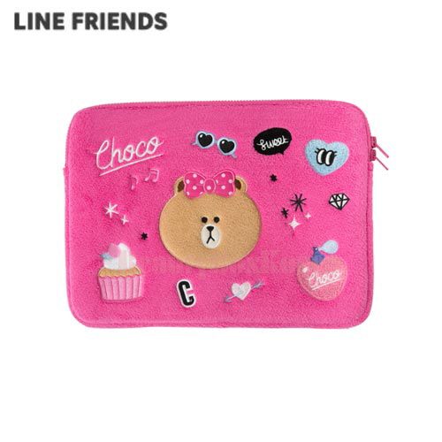 "LINE FRIENDS Pink Choco Wappen Notebook Pouch 13""(Laptop Sleeve) 1ea"