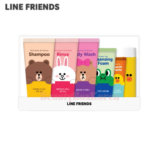 LINE FRIENDS Travel Set 6items