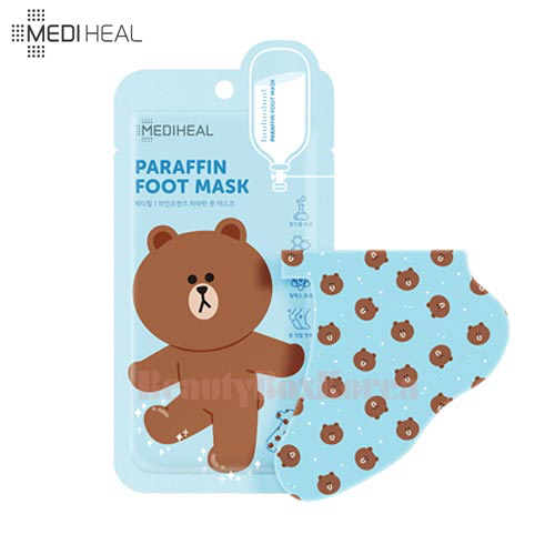 MEDIHEAL Paraffin Foot Mask 9ml*2ea [Line Friends Edition]