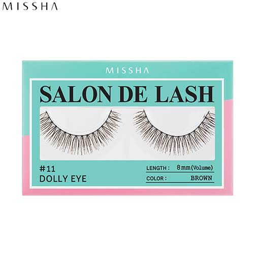 MISSHA Salon De Lash (Eyelash) #11 Dolly Eye (Brown, 8mm/Volume), MISSHA